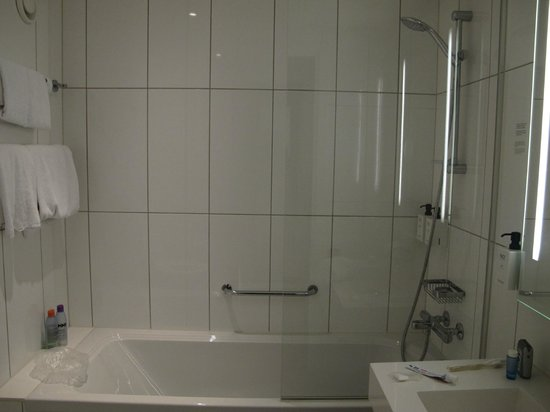 Scandic Copenhagen: 1/3rd glass shower screen