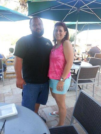 Tarpon Creek Bar & Grill: on the patio--