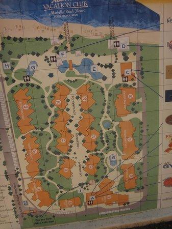 Marriott's Marbella Beach Resort: map of hotel buildings