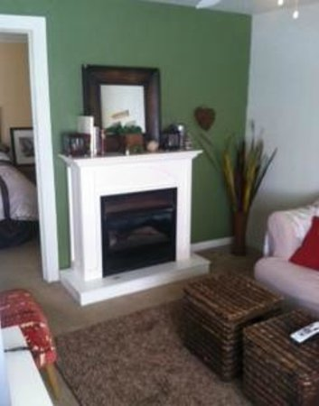 The Carriage House Suites: Suite A fireplace