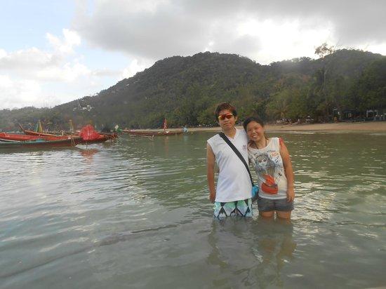 Wind Beach Resort: along ko tao beach