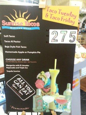 Sunrise Tacos Mexican Grill - Sukhumvit 13 : False Advertising