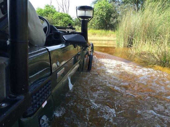 andBeyond Xaranna Okavango Delta Camp: You're gonna drive through some deep water!