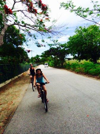 Caribe Club Princess Beach Resort & Spa: Petit rail , c était très agréable . Ils vous donne un petit vélos . Et sous accompagnement vous
