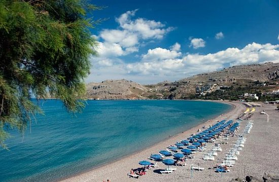 Lindos Royal Hotel: Plage du Club Marmara