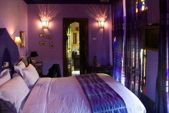 Riad Le Calife: Our beautiful Amethyst Suite