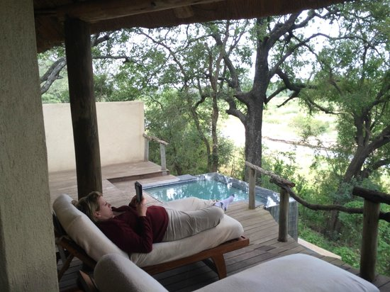 andBeyond Exeter River Lodge : View of our back deck and plunge pool.