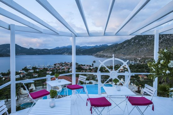 Terrasses de Selimiye Butik Hotel: teras bar