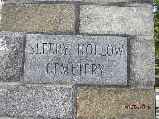Sleepy Hollow Cemetery: Cemetery Marker