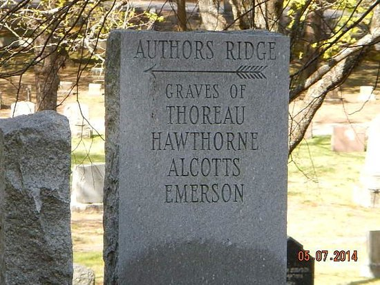 Sleepy Hollow Cemetery: Author's Ridge marker