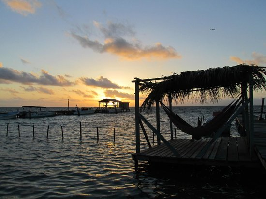 Yuma's House Belize: sunrise view from Yuma's