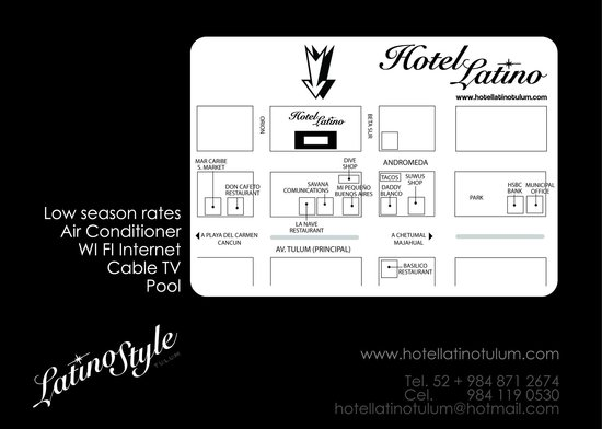 Map and location of hotel latino