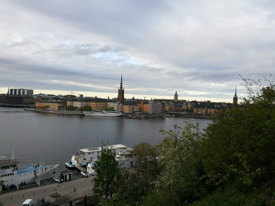 Hotel Hornsgatan: The view of Gamla Stan from the walk behind the hotel