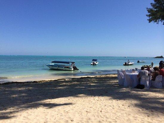 Club Med La Pointe aux Canonniers : vue mer ... du restaurant de la plage