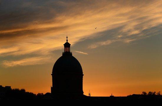 Place du Capitole : Sonnenuntergang von der St. Pierre Brücke