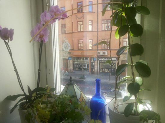 Hotel Hornsgatan: The view from the window in the breakfast room
