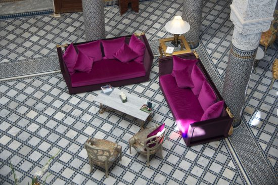 Riad Fes - Relais & Chateaux: Birds Eye View of the Lobby