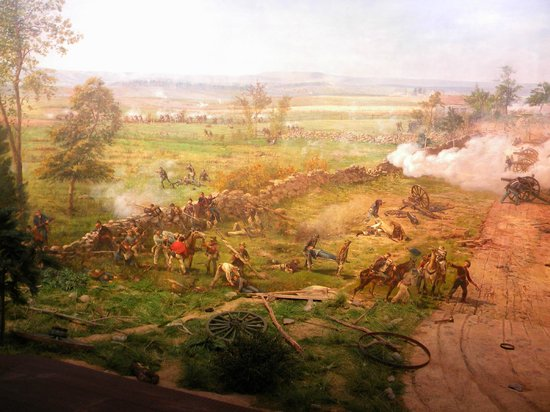 Gettysburg Museum & Visitor Center: A view of one section of the Cylcorama