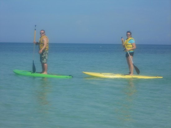 Beaches Negril Resort & Spa: Paddleboarding - so fun!