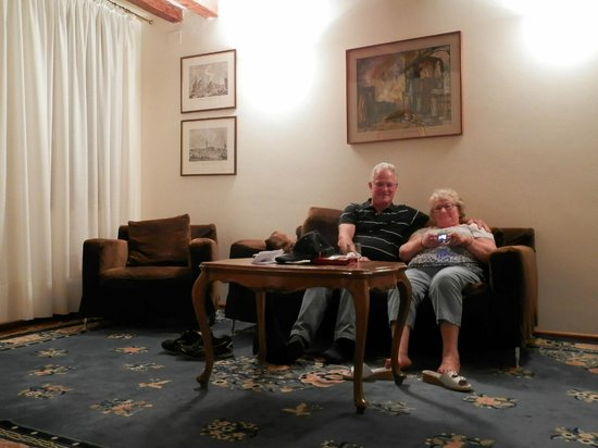 Hotel Bisanzio: Le salon de notre deuxième séjour