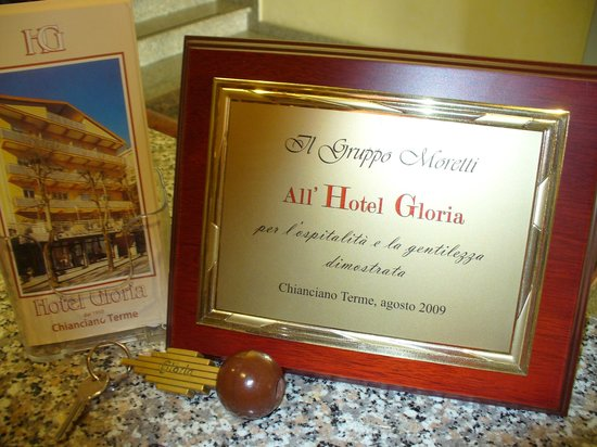 Hotel Gloria: Un riconoscimento per la ns. professionalità
