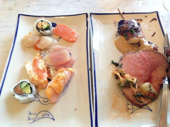 Berns Asiatiska: sushi, rostbiff