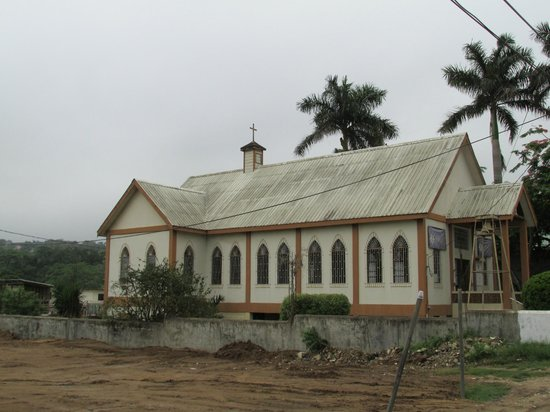 Western Guest House: church across the street