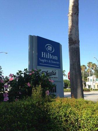 Hilton Naples Roadsign