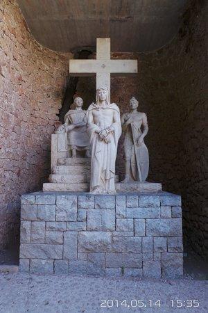 Montserrat Museum: Одина из скульптур Монастыря Монтсеррат !