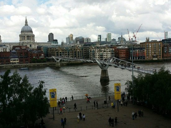 View from a balcony in the Tate Modern.