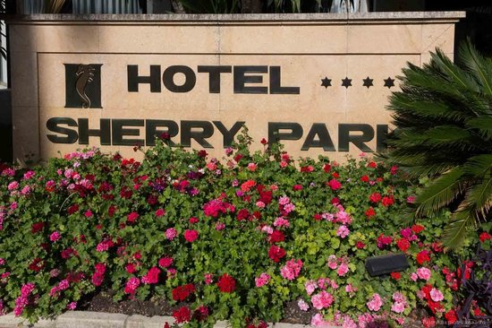 Hipotels Sherry Park: Hotel Sherry Park sign