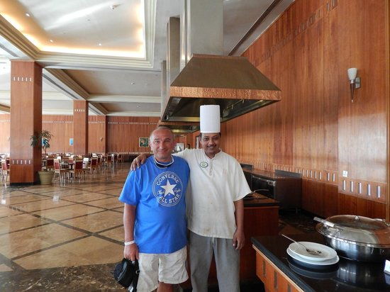 "Resta Grand Resort: The staff in the ""Space"" restaurant"