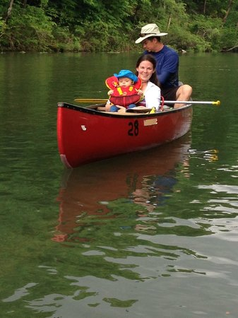 Tree House Cabins at River of Life Farm: Great shuttle for Canoeing