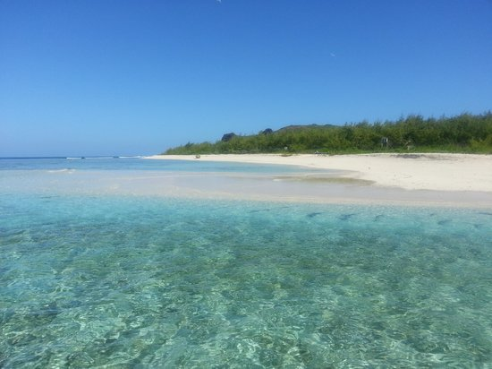 Ile Plate Beach: arrivee ile plate
