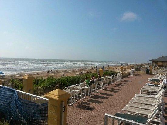Hilton Garden Inn South Padre Island : View of Ocean from Hotel Deck.