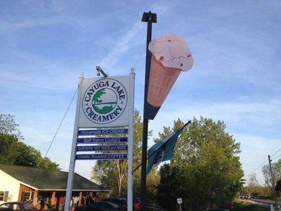 Cayuga Lake Creamery - sign