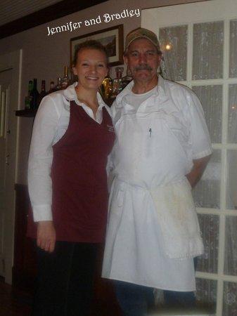 Prospect Historic Hotel - Motel and Dinner House: Chef Bradley and server Jennifer.
