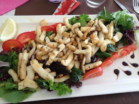 Beach Club: Salade de calmars