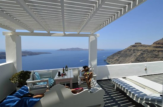 Agali Houses: Terrasse