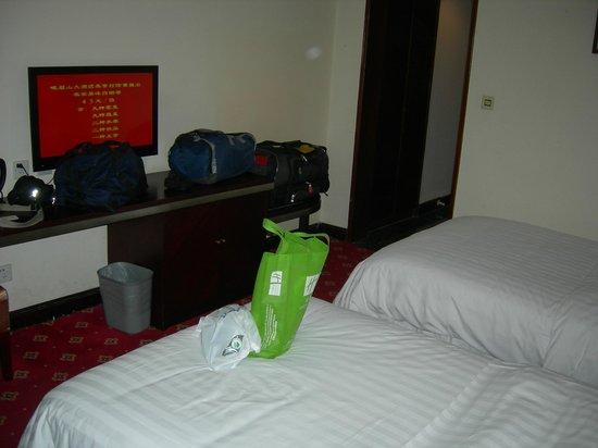 Emeishan Grand Hotel : tight luggage space