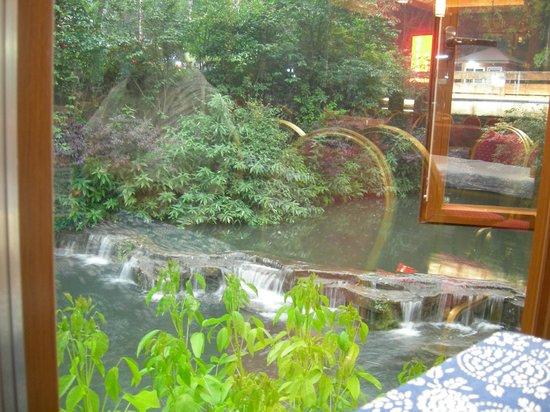 Emeishan Grand Hotel : stream outside restaurant windows