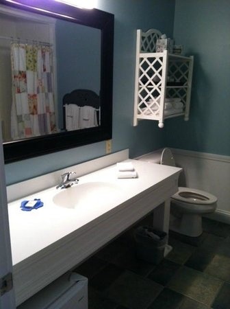 Island View Inn: Spotless bathroom with great shower