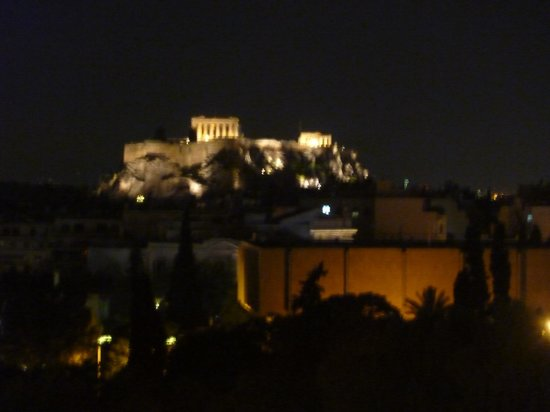 Hilton Athens: night time view from hotel