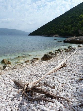 Further round Antisamos beach you can clamber on rocks