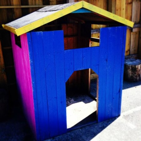 The Playstation Totnes: outside play house