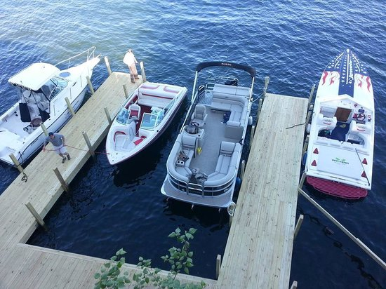 Tavern on the Lake: View of Docks from Tavern Deck