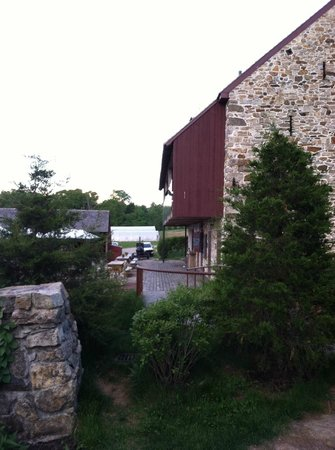 Wyebrook Farm Cafe and Market: view from the farm house