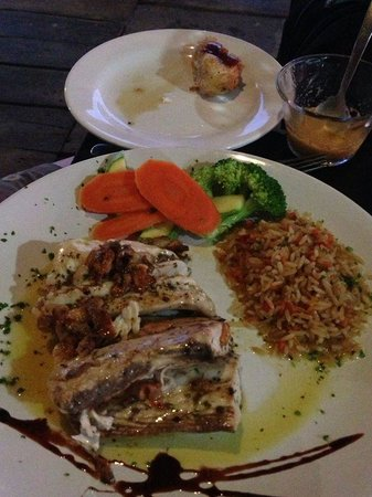Ballyhoo's is the restaurant on the dock- they cook your