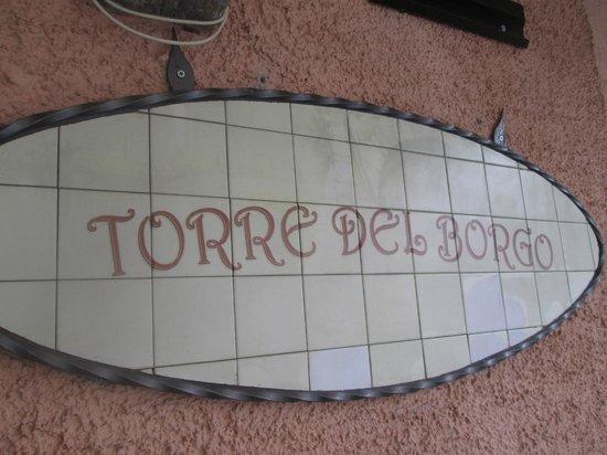 Torre del Borgo: Sign