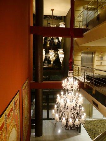 Pazo Los Escudos Hotel and Spa: View over reception area - new building